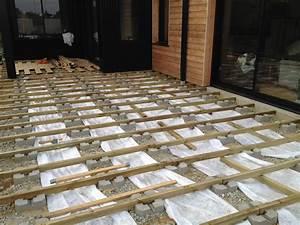 plot beton terrasse pas cher With faire une terrasse en bois sur plots