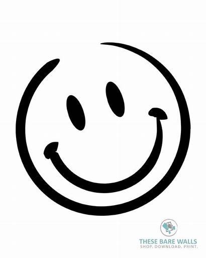 Smiley Face Drawing Drawn Printable Faces Sketch