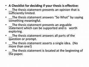 Mla Requirements Writing A Thesis Statement