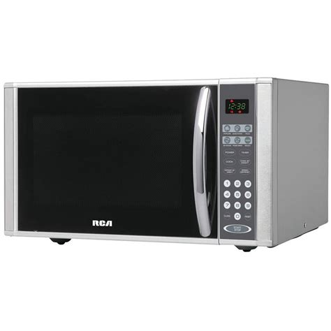 stainless steel countertop microwave rca 1 1 cu ft countertop microwave in stainless steel