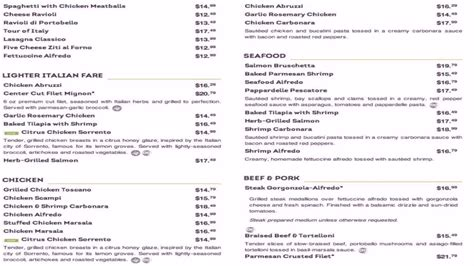olive garden menu prices olive garden restaurant menu and prices