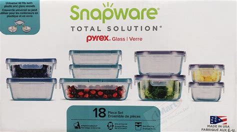 snapware containers pyrex lids storage glasslock food keeper glassware pc lid square