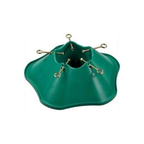 green plastic tree stand for trees up to 6 ft tall