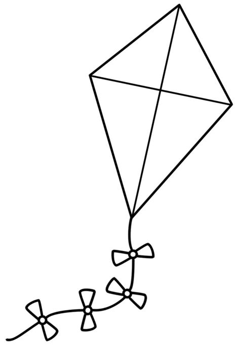 kite black  white clipart    clipartmag