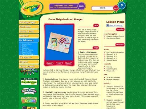 Erase Neighborhood Hunger Lesson Plan For Kindergarten