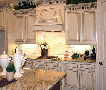 Distressed Antique White Kitchen Cabinets  Smart Home Kitchen
