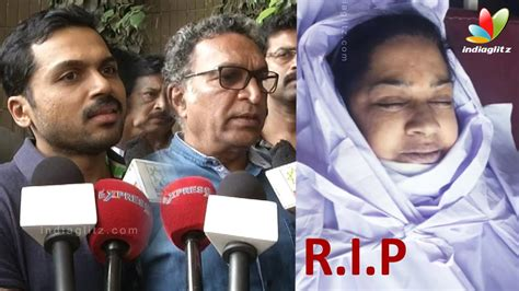 tamil actress kalpana death photos karthi kovai sarala nassers s condolence speech to