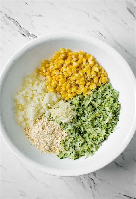 zucchini fritters corn fryer air healthy eat