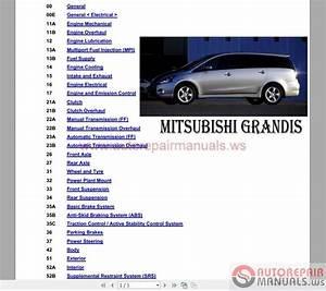 Mitsubishi Grandis 2004 Worshop Manual