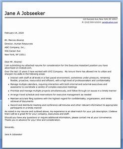 Executive assistant cover letter samples resume downloads for Executive assistant cover letter 2014