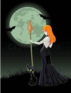 Schöne Halloween Bilder : sch ne halloween hexe einen besen vektorgrafik colourbox ~ Eleganceandgraceweddings.com Haus und Dekorationen