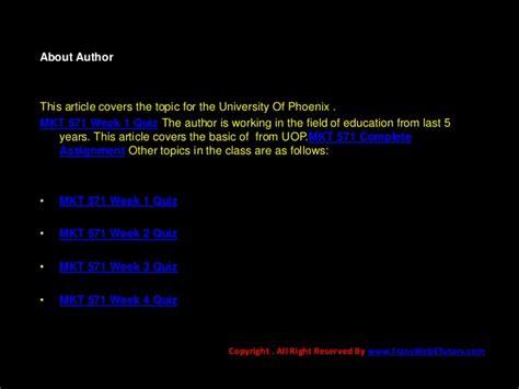 mkt 571 week 1 quiz uop course tutorial