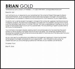 Senior Project Manager Cover Letter Sample