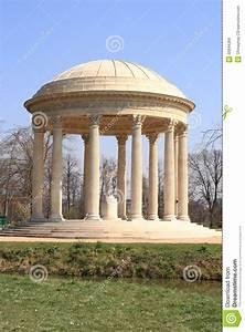 French Garden Pavilion Stock Image  Image Of Castle