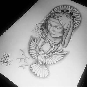 saint mary sketch tattoo - Pesquisa Google | sketch ...