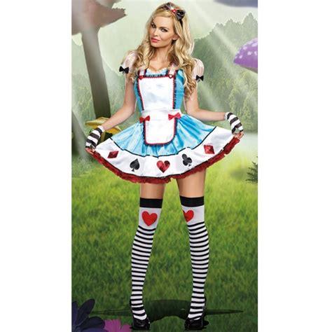Déguisement Au Pays Des Merveilles Adulte Costume Au Pays Des Merveilles Avec Gants Deguisement Femme Adulte