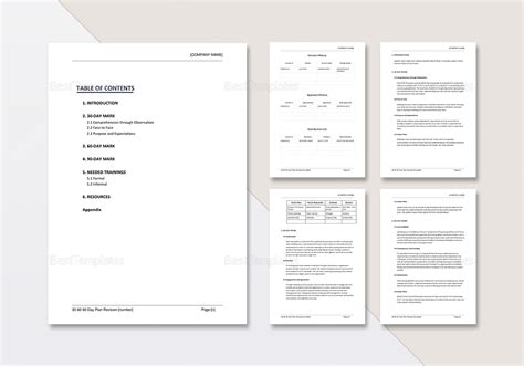 brendanreid template 30 60 90 30 60 90 day plan template in word google docs apple pages