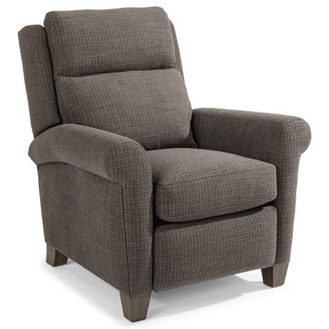 flexsteel abby casual power high leg recliner with