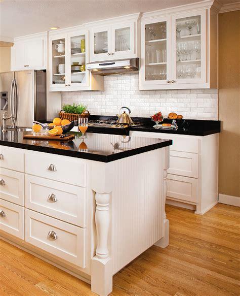 kitchen countertops and backsplash subway tile back splash white cabinets nickel hardware