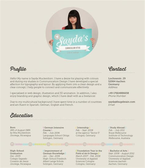 Cool Html Resumes by 40 Creative Cv Resume Designs Inspiration 2014 Web Graphic Design Bashooka