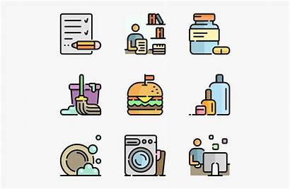Routine Daily Clipart Schedule Icon Icons Word
