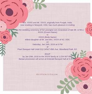 wedding wording samples and ideas for indian wedding With wedding invitations free samples usa