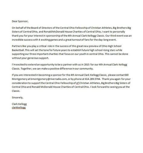 sponsorship letter template  business docus