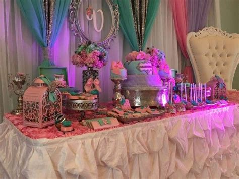 Teal And Pink Baby Shower Decorations by Teal And Pink Modern Chic Baby Shower Treat Table Baby