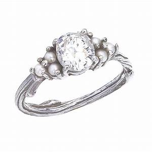 custom antique diamond and pearl engagement ring with With pearl and diamond wedding ring
