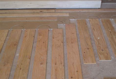 radiant floor heating pex piping infloor heat
