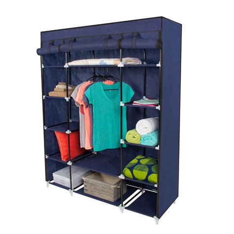 Portable Closet Rack 53 portable closet storage organizer wardrobe clothes