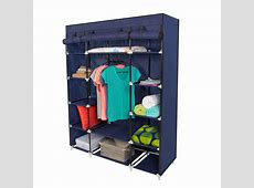 "53"" Portable Closet Storage Organizer Wardrobe Clothes"