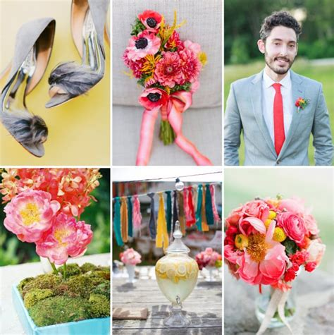 A Brilliant Wedding Color Palette Peony Pink Bright