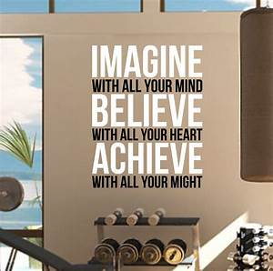 imagine believe achieve gym wall decal quote sports With the best motivational wall decals for gym