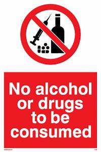 No Alcohol or Drugs from Safety Sign Supplies