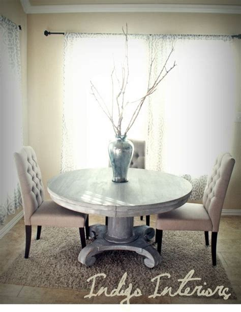 white pedestal kitchen table vintage gray and white washed round pedestal dining