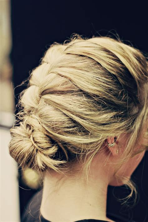 The Higher The Hair French Braided Messy Bun