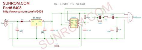mini pir motion detection sensor hc sr  sunrom