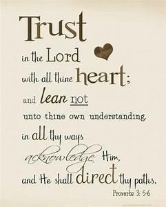 Proverbs 3:5-6 KJV | KJV Bible Verses | Pinterest | Trust ...