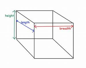 Cube With Length Width And Height