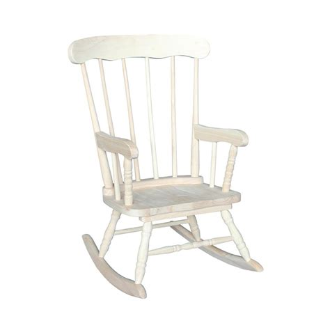 international concepts unfinished rocking chair cr