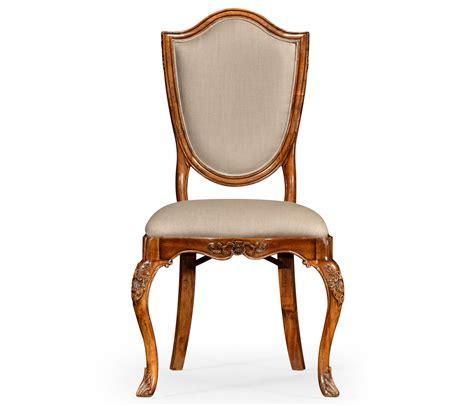 upholstered shield back chair side