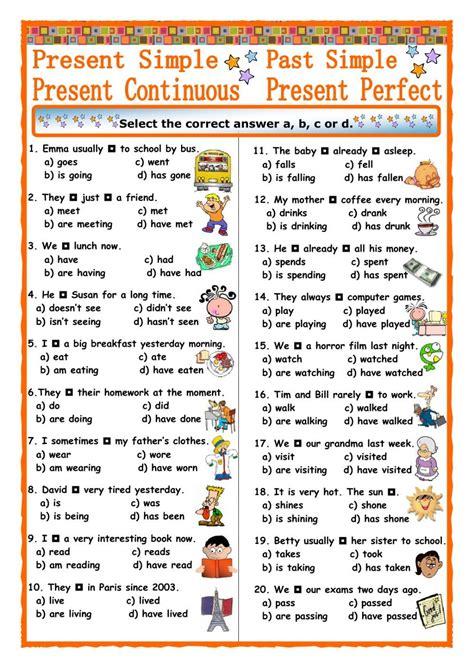 present tenses and past simple esl grammar english