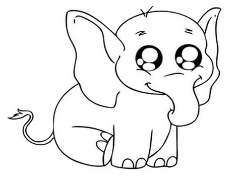 baby elephant coloring pages coloringsuitecom