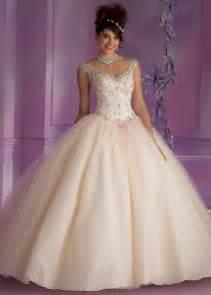 cinderella quinceanera ideas vizcaya 89006 chagne beaded quinceanera prom dresses