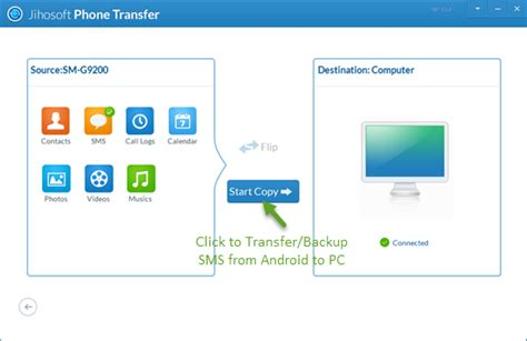 how to transfer text messages from android to computer transfer and backup sms text messages from android to pc