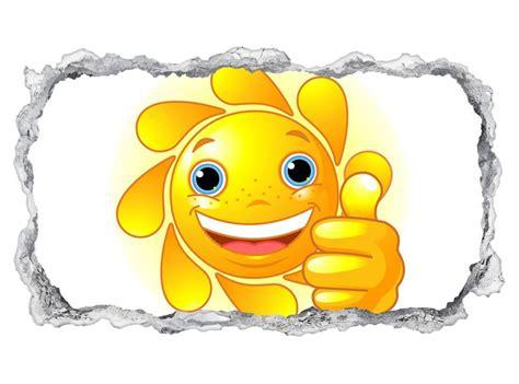 wandtattoo kinderzimmer cartoon sonne daumen hoch