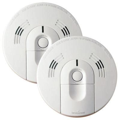 smoke detector red light solid kidde intelligent battery operated combination smoke and