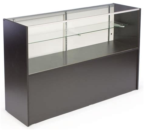 Display Case Adjustable Glass Shelves W Sliding Doors