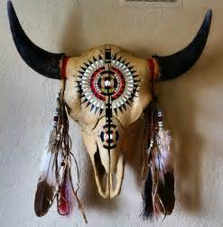 Decorated Cow Skulls Pinterest by Original Artwork Hand Painted Buffalo Skull With Peyote